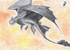A nightfury called Toothless by Saliona93