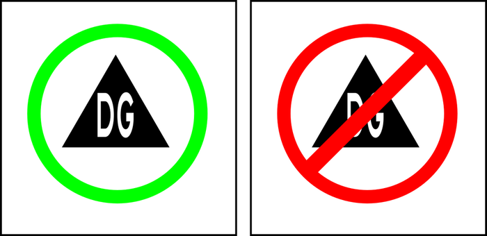 Dangerous Goods Route Signs by TheSuperArtWorks
