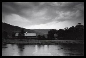 River Conwy by ash