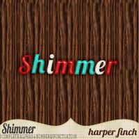 Shimmer, 3 Alphabets/Numerals/Punctuation by harperfinch