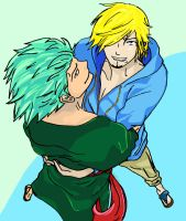 Zoro + Sanji after 2 year gap by Feral-Inari