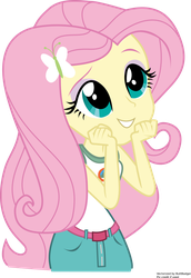 [SVG] Human Fluttershy from Legends of Everfree by maxlefou