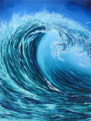 Giant Wave PRINT by crazycolleeny
