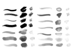 DAUB | Brush Set 2 for Manga Studio 5 by paololimoncelli