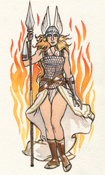 Brunnhilde pin-up by characterundefined