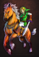 Ocarina of time - Epona and Link by KarolyneRocha