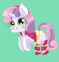 EQG Dress Sweetie Belle by OZWORLD7