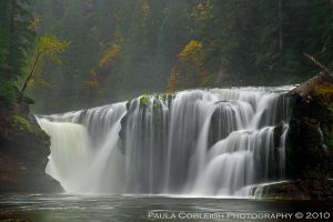 Waterfall - Lower Lewis Falls Autumn by La-Vita-a-Bella