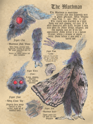 Mothman Bestiary Page by Kway100