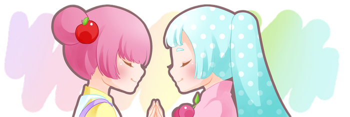 Pastel friendship by Motoko-Su