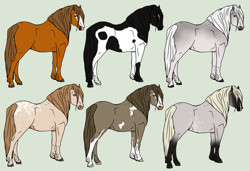 Long Haired Beauties Adopts by horsegirl121