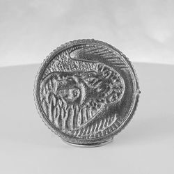 Falcon (White) Metal Power Ranger Coin by NickDClements