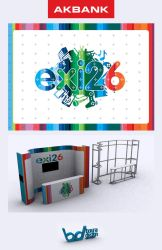 Akbank exi26 Stand ve Banner Design by boura2004