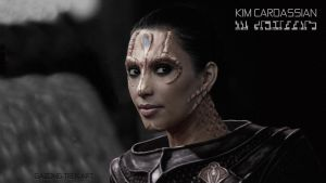 Kim Kardashian- Cardassian Celebrity Star Trek by gazomg
