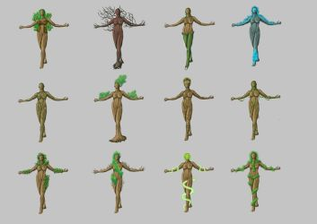 Andra: Female Skyddsjord thumbnails sheet by adz-grant