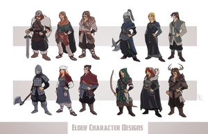 Eldeif Character Designs Part 1 by Tigerhawk01