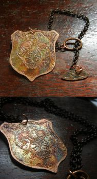 Jaguar Etched Menagerie necklace For SALE by modastrid