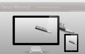 Pencil Minimal Grey by solutionall