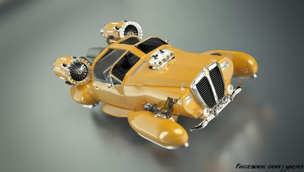 Retro Hover Car by aXel-Redfield