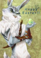 Happy Easter from Bunnymund by kotorikurama