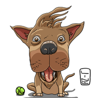 Cute Pup I drew in a video by LineDetail