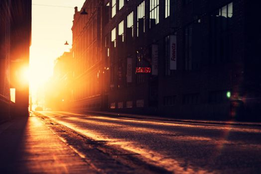 Light at the End of the Street by Atinaj