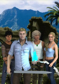Rafe, Cadan, Jude and Madison by timberoo