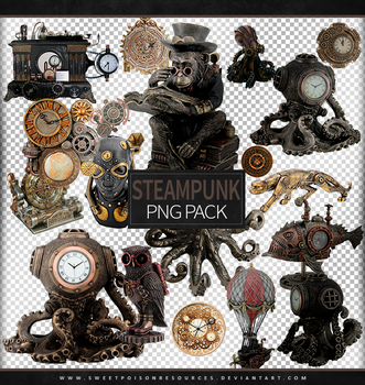 Steampunk | Png Pack by sweetpoisonresources