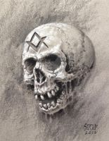 Masonic Skull study by Stelf-2014