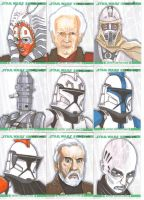 Clone Wars sketch cards 5 by NORVANDELL