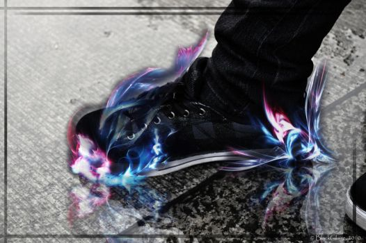 Glowing Shoes by BlackClaire