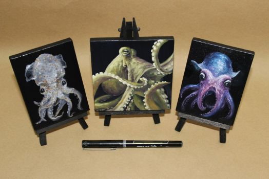Mini Cephalopods by crazycolleeny