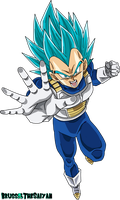 Super Saiyan Blue 2 Vegeta Alt Color by BrusselTheSaiyan
