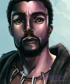 T'Challa by waywardgal