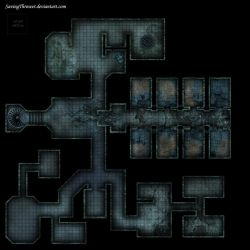 Clean abandoned prison dungeon battlemap roll20 by SavingThrower