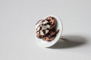 Cookie plate Ring by YourSweetTreat