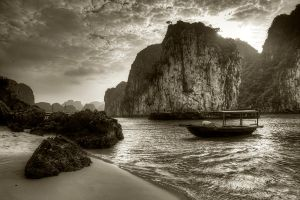 Ha Long Bay - Sepia by InayatShah