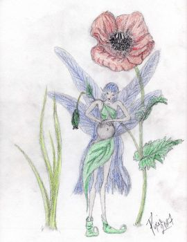 Pregnant Faery -Colored Pencil by Faerybug