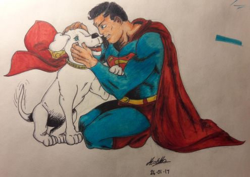 The Greatest Superhero Alive and His Owner by GyptianDragonRider