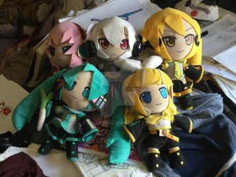 My vocaloid plushies by AVAK55