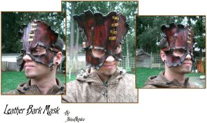 Steampunk Leather Bark Mask by Skinz-N-Hydez
