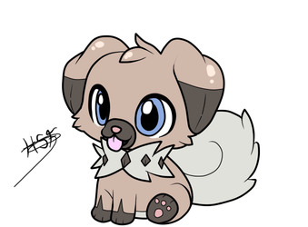 little rockruff by Huatay-Swift-Fox