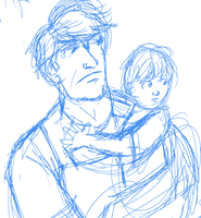 WIP Father and Son by Louvan