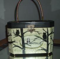 OOAK Vintage Box Purse Completely Revamped by MikeysGrrrl