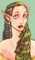 Green Haired Lady by DrMistyTang