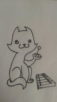 A Cat playing a Xylophone by Ultimate-Jasper
