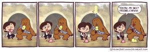 Star Wars Funnies: Chewbacca by kevinbolk