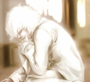 Death Note - Alone by swift-winged-soul