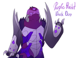 [Gem Mutants AU] Dark Don Purple Peridot by Foziz105