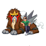 Digital Duet - Ethan Chilling with Entei by EnteiTheHedgehog
